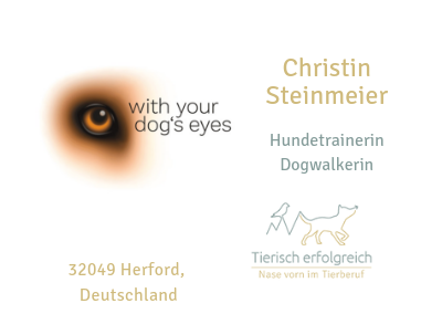 Christin Steinmeier with your dog's eyes